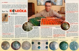 Article on buttons collection in Hobby magazine, 20th May 2004