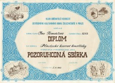 "Certificate ""Remarkable collection"", granted to my father in 1982"