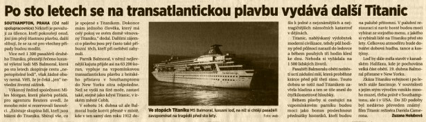 Titanic 100 let (MF 7.4.2012)